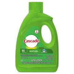 Cascade® Dishwasher Gel with Dawn, Lemon, 120 oz Bottle, 4/Carton