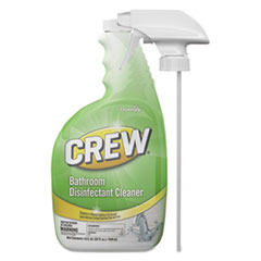 Diversey™ Crew Bathroom Disinfectant Cleaner, Floral Scent, 32 oz Spray Bottle