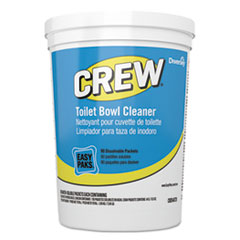 Diversey™ Crew Easy Paks Toilet Bowl Cleaner, Fresh Floral Scent, 0.5 oz Packet, 90 Packets/Tub, 2 Tubs/Carton