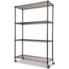 Alera® NSF Certified 4-Shelf Wire Shelving Kit with Casters