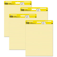 Self-Stick Easel Pads, 25 x 30, Yellow, 30 Sheets, 4/Carton