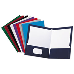 Oxford™ Laminated Twin Pocket Folders