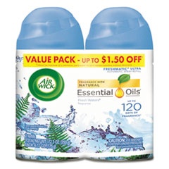 Freshmatic Ultra Spray Refill, Fresh Waters, Aerosol, 5.89 oz, 2/Pack 3 Packs/Carton