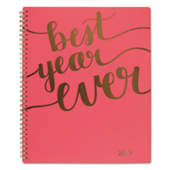 ASPIRE WEEKLY/MONTHLY PLANNER, 8 1/2 X 11, CORAL,