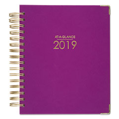 Harmony Daily Hardcover Planner, 6 7/8 x 8 3/4, Berry, 2019