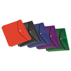 Cardinal® Dual Pocket Snap Envelope, 11 x 8 1/2, Assorted Colors, 5/Pack