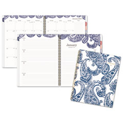 Paige Weekly/Monthly Planner 8 1/2 x 11 Navy/White 2019