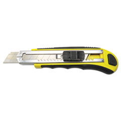 RUBBER-GRIPPED RETRACTABLE SNAP BLADE KNIFE,