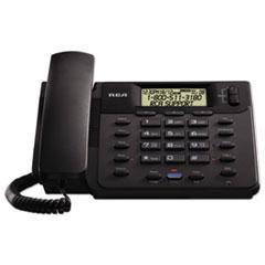 RCA® VISYS Corded 2-Line Speakerphone With Caller ID, Black