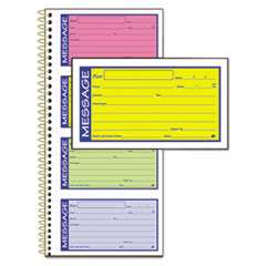 Adams® Wirebound Telephone Message Book