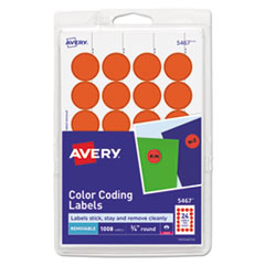 Avery® Printable Self-Adhesive Removable Color-Coding Labels