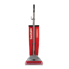 Sanitaire® TRADITION Upright Vacuum with Shake-Out Bag, 16 lb, Red