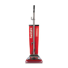 Sanitaire® TRADITION Upright Vacuum with Shake-Out Bag, 17.5 lb, Red