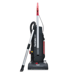 """Sanitaire® MULTI-SURFACE QuietClean Two-Motor Upright Vacuum, 13"""" Cleaning Path, Black"""