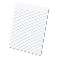 Ampad® Glue Top Pads, Wide/Legal Rule, 50 White 8.5 x 11 Sheets, Dozen