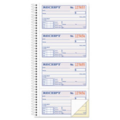 Two-Part Rent Receipt Book, 2 3/4 x 4 3/4, Carbonless, 200 Forms