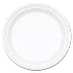 "Dart® Famous Service Impact Plastic Dinnerware, Plate, 10 1/4"" dia, White, 500/Carton"