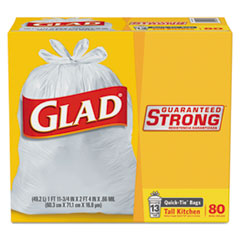 Glad® Tall Kitchen Quick-Tie® Bags