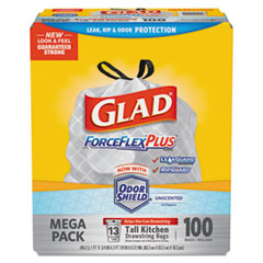 Glad® ForceFlexPlus™ Tall Kitchen Drawstring Trash Bags Thumbnail