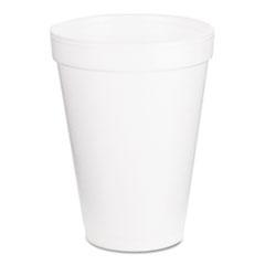 Dart® Foam Drink Cups, 12oz, White, 1000/Carton