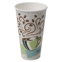 Dixie® Hot Cups, Paper, 20oz, Coffee Dreams Design, 25/Pack, 20 Packs/Carton