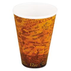Dart® Foam Hot/Cold Cups, 12oz, Brown/Black, 1000/Carton