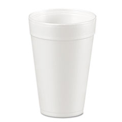 Dart® Foam Drink Cups, 32oz, White, 25/Bag, 20 Bags/Carton