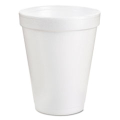 Dart® Foam Drink Cups, 6oz, White, 25/Bag, 40 Bags/Carton