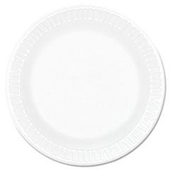 """Dart® Concorde Foam Plate, 6"""" dia, White, 1000/Carton"""