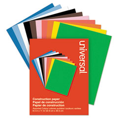 Universal® Construction Paper, 76lb, 9 x 12, Assorted, 200/Pack