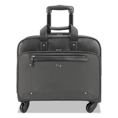 """Solo Gramercy Rolling Case, 10.25"""" x 15.62"""" x 15.62"""", Polyester, Gray"""