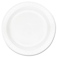 "Dart® Concorde Foam Plate, 9"" dia, White, 125/Pack, 4 Packs/Carton"