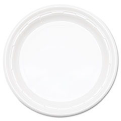 "Dart® Famous Service Plastic Dinnerware, Plate, 9"", White, 125/Pack, 4 Packs/Carton"