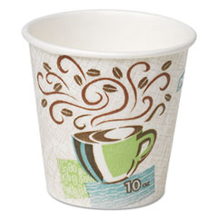 Dixie® Hot Cups, Paper, 10oz, Coffee Dreams Design, 25/Pack