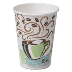 Dixie® Hot Cups, Paper, 8oz, Coffee Dreams Design, 500/Carton