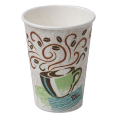 Dixie® Hot Cups, Paper, 12oz, Coffee Dreams Design, 1000/Carton