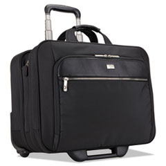 "Case Logic® 17"" Checkpoint Friendly Rolling Laptop Case, 17.9"" x 10.6"" x 14.8"", Black"