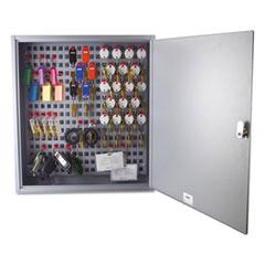 SteelMaster® Steel Key Cabinet, 90-Keys, 3.5w x 16.5d x 18.375h, Gray