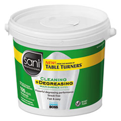 Sani Professional® Multi-Surface Cleaning and Degreasing Wipes, 11 1/2 x 10, 100/Pail, 2 Pails/CT