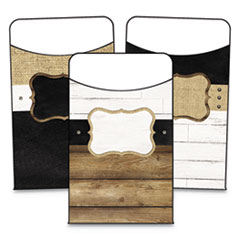 """Schoolgirl Style Library Pockets, Industrial Chic, 3.25"""" x 5.25"""", 36/Pack"""