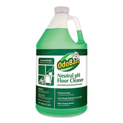 OdoBan® Neutral pH Floor Cleaner, 128 oz Bottle, Floral, 4/CT