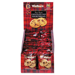Walkers Shortbread Cookies, Chocolate Chip Shortbread, 2.2 oz Box