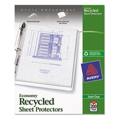 Avery® Recycled Economy Weight Clear and Semi Clear Sheet Protector Thumbnail