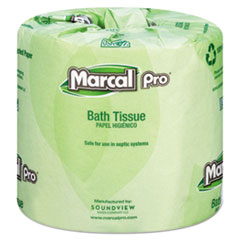 Marcal PRO™ 100% Recycled Bathroom Tissue, Septic Safe, 2-Ply, White, 242 Sheets/Roll, 48 Rolls/Carton