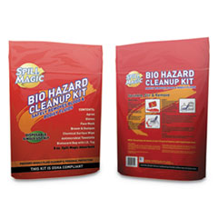 "Spill Magic™ Biohazard Spill CleanUp, 3/4"" x 6"" x 9"""