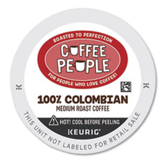 Coffee People® 100% Colombian K-Cup, 24/BX