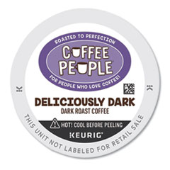 Coffee People® Deliciously Dark K-Cup, 24/BX
