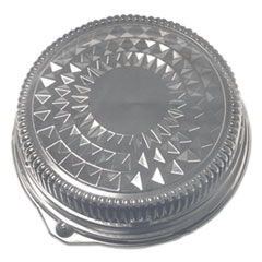 """Durable Packaging Dome Lids for 16"""" Cater Trays, 16"""" Diameter x 2.5""""h, Clear, 50/Carton"""