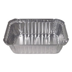 Durable Packaging Aluminum Closeable Containers, 1.5 lb Deep Oblong, 500/Carton