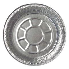 """Aluminum Round Containers, 22 Gauge, 24 oz, 7"""" Diameter x 1.75""""h, Silver, 500/Carton"""
